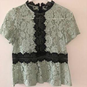 Gorgeous Zara mint lace top